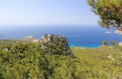 Das Schloss von Monolithos Rhodos, Griechenland Lizenzfreie Stockbilder