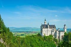 Das Schloss von Neuschwanstein in Deutschland Lizenzfreies Stockbild