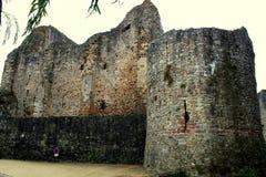 Das Schloss von Sainte Suzanne stockfotografie