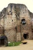 Das Schloss von Sainte Suzanne stockbild