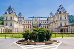 Das Schloss von Valentino, Turin Stockfotos