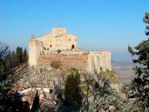 Das Schloss von Verucchio Stockbild