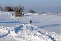 Das schneebedeckt-bewegliche lizenzfreie stockbilder