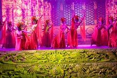 Das Schnitzen und das Mädchen--Die historische magische Magie des Artlied- und -tanzdramas - Gan Po Lizenzfreies Stockfoto