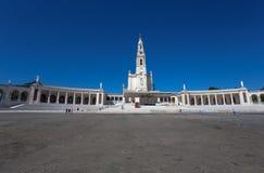 Das Schongebiet von Fatima, die auch als die Basilika von Dame Fatima, Portugal gekennzeichnet stockfoto