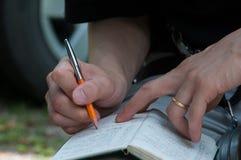 Das Schreiben für erinnern sich stockfoto