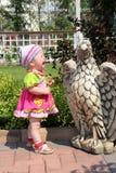 Das schreiende kleine Mädchen Lizenzfreies Stockfoto