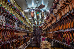 Das Schuhgeschäft Lizenzfreies Stockfoto