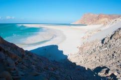 Das Schutzgebiet von Qalansia-Strand, die Lagune, Socotra, der Jemen Lizenzfreies Stockbild