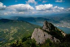 Das Schwätzchen der Einbuchtung DU in den französischen Alpen stockfotos