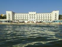 Das Schwarze Meer und der Mamaia-Erholungsort Lizenzfreies Stockfoto