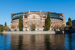 Das schwedische Parlamentsgebäude Stockbild