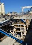 Das Seattle bohren tief Tunnel-Projekt Lizenzfreie Stockfotos