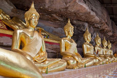 Das sechs buddhas Modell Stockfoto