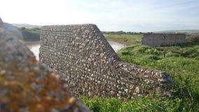 Das Seelöwedorf ruiniertes Dorf des Operationsseelöwen stockbild