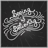 Das Sehen glaubt Stockbild