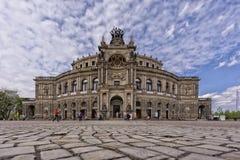 Das Semper-Opernhaus von Dresden Stockbild