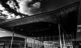 Das Senedd-Gebäude Lizenzfreie Stockfotografie