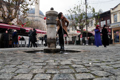 Das Shadrvan-Quadrat Prizren lizenzfreie stockfotografie