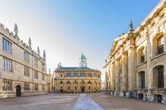 Das Sheldonian-Theater, gelegen in Oxford, England, wurde von 1664 bis 1669 nach einem Design von Christopher Wren errichtet Lizenzfreie Stockbilder