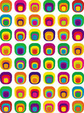 Das Siebziger-Muster I Stockfoto