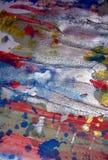 Das silbrige funkelnde schlammige klare Aquarell spritzt, abstrakter kreativer Hintergrund der Farbe Stockfotos
