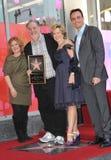 Das Simpsons, Yeardley Smith, NancyCartwright, Matt Groening, Hank Azaria lizenzfreie stockfotos