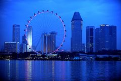 Das Singapur-Flugblatt Stockfoto