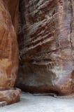 Das Siq in PETRA, Jordanien lizenzfreies stockbild