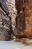 Das Siq in PETRA, Jordanien lizenzfreie stockbilder