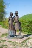 Das Skulptur ` Bürger ` in Dmitrov, Russland Lizenzfreie Stockfotografie