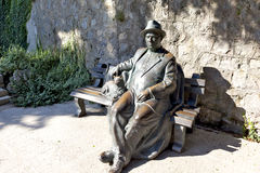 Das Skulptur ` stillstehende krymchanin ` im Park ` Paradies ` Sanatorium ` Aivazovsky-` Partenit krim Lizenzfreie Stockbilder