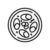 Das Sojabohnenöl ärgert Ikonenvektor lokalisiert auf weißem Hintergrund, Sojabohnenöleier unterzeichnen vektor abbildung