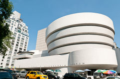 Das Solomon R. Guggenheim Museum in New York City lizenzfreie stockfotos