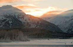 Das Sonnenuntergang Chilkat Tal   Stockbild