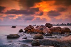 Das Sonnenuntergang view-2 wonderfull Indonesien stockfotografie