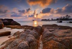 Das Sonnenuntergangansicht wonderfull Indonesien lizenzfreies stockfoto