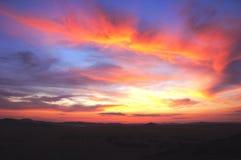 Das Sonnenuntergangglühen (Wolke) Lizenzfreie Stockbilder