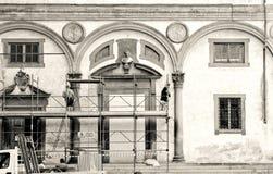 Das Spedale-degli Innocenti, Florenz Stockfotos