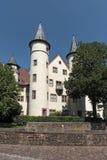 Das Spessartmuseum im Schloss an Hauptleitung Lohr morgens, Deutschland Lizenzfreies Stockfoto