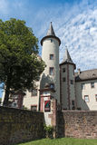 Das Spessartmuseum im Schloss an Hauptleitung Lohr morgens, Deutschland Stockfotografie