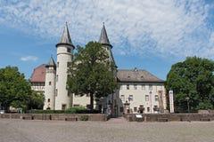 Das Spessartmuseum im Schloss an Hauptleitung Lohr morgens, Deutschland Stockbild