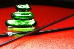 Das Spiel des Lichtes in der Glaspyramide Stockbild