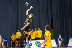 Das Spiel des Volleyball, lizenzfreie stockfotografie