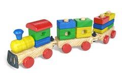 Das Spielzeug der Kinder eine Dampflokomotive Stockfotografie