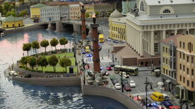 Das Spucken von Vasilyevsky Insel Stockbild