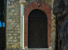 Das St. Clement Church in Ohrid - heilige Mutter von Gott Peribleptos-Kirche Lizenzfreie Stockfotos