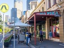Das Stadtbild der Felsen ist eine städtische Stelle, ein touristischer Bezirk und ein historischer Bereich Sydneys des Stadtzentr lizenzfreie stockfotos