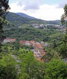 Das Stadtbild von Bilbao - Hauptstadt des Baskenlands Lizenzfreies Stockfoto