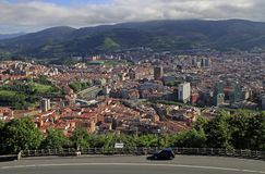 Das Stadtbild von Bilbao - Hauptstadt des Baskenlands stockfotos